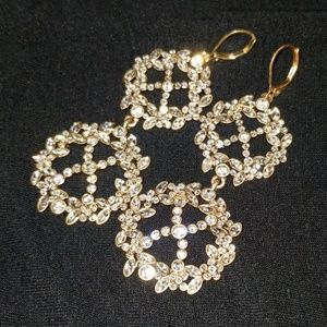 Gorgeous open-x pave earrings